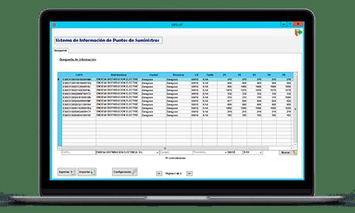 software de ejemplo para comercializadoras de energia